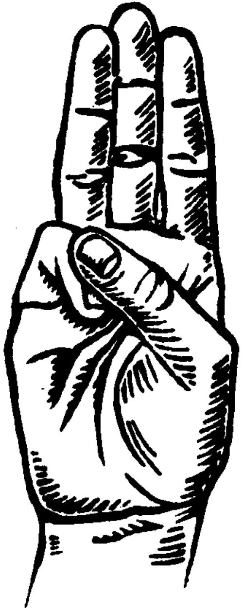 Three Finger Salute Drawing Boy Scout Sign