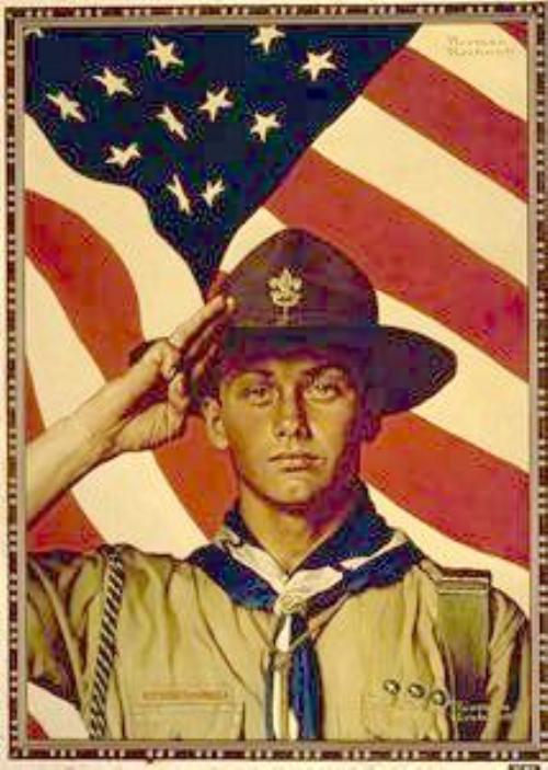 Public Pledge,Salute,Sign - Boy Scout Troop 5 (Coffeyville, Kansas)